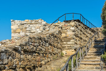 Archaeological Area Stageira. Ruins of ancient Stagira, Greece.