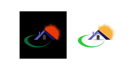Blank for the logo of the real estate company and construction company