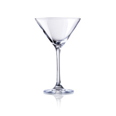 empty cocktail glass, isolated on white