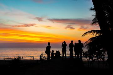 Sunset on Karon beach Phuket Thailand