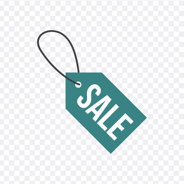Sale, price tag icon. Sign isolated on transparent background. Vector flat design illustration