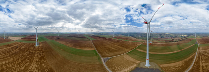 Windpark 360° VR Luftbild