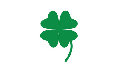 Four leaf clover symbol luck patrick's day illustration icon