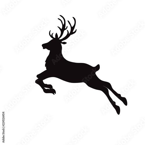 Christmas Reindeer Silhouette.Christmas Reindeer Silhouette Stock Image And Royalty Free