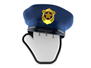 Cursor with police hat