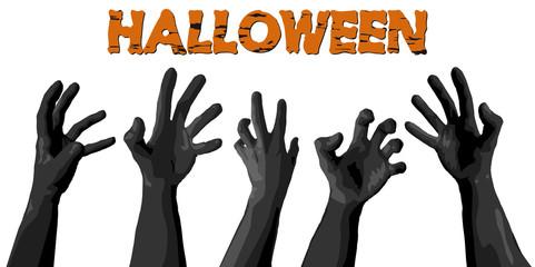 halloween zombie hands