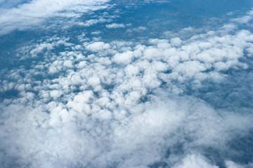 Fototapeta Natural cloudscape view from airplane window. obraz