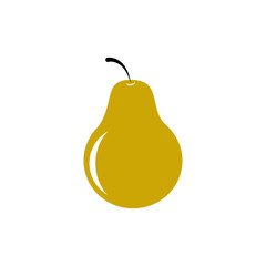 Yellow pear icon vector illustration on white background