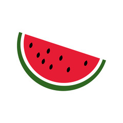 watermelon icon isolated vector illustration on white background