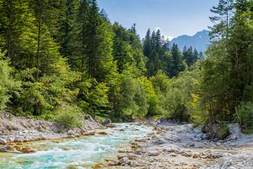 Pericnik Wasserfall im Triglav Nationalpark, Slowenien