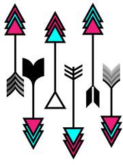 Ilustración de flechas indias sobre fondo blanco