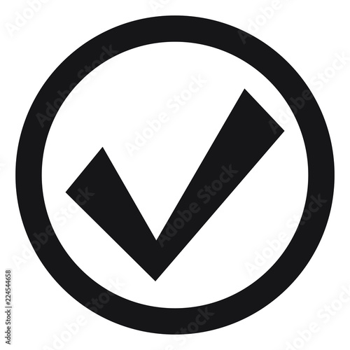 Tick Icon Vector Symbol Checkmark Isolated On White Background