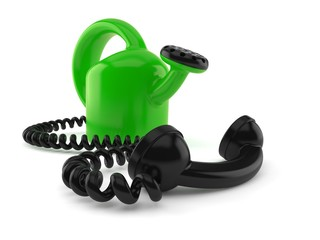 Watering can with telephone handset