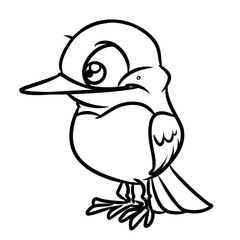 Bird funny hummingbird character animal cartoon