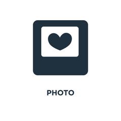 Photo icon. Black filled vector illustration. Photo symbol on white background.