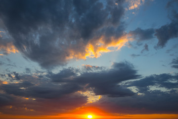 beautiful dramatic sunset natural background