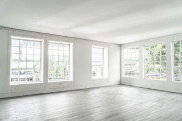 empty room with glass window Wall mural