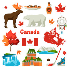 Canada icons set.