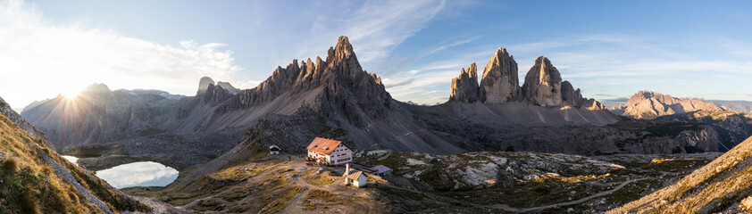 Keuken foto achterwand Europese Plekken Sonnenaufgang an der Dreizinnenhütte