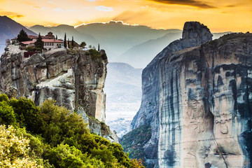 Monastery of the Holy Trinity i in Meteora, Greece Wall mural
