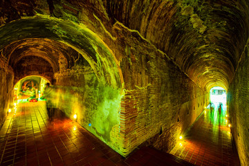 The ancient tunnel of Umong temple