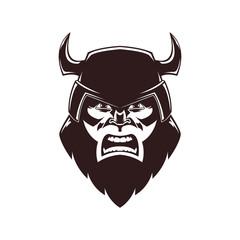 Viking mascot illustration. Vector illustration, eps 10.