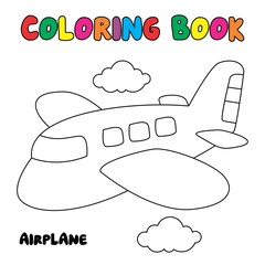 Airplane coloring page, coloring book