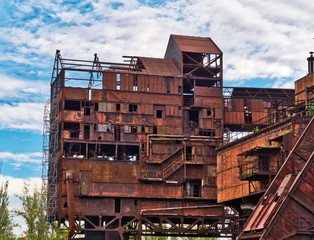 Old abandoned metallurgical plant