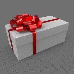 Gift with red ribbon 5