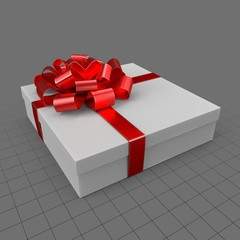 Gift with red ribbon 4