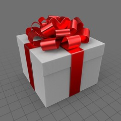 Gift with red ribbon 2