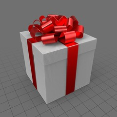 Gift with red ribbon 1