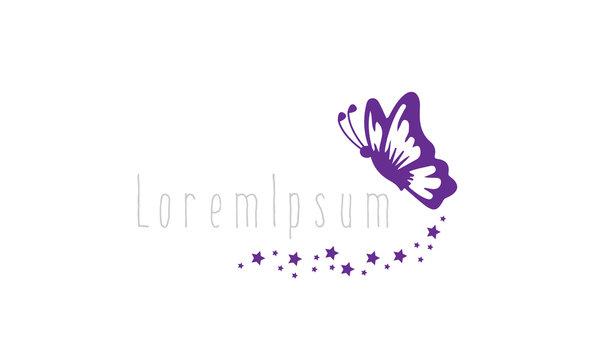 Butterfly Lady Logo Design