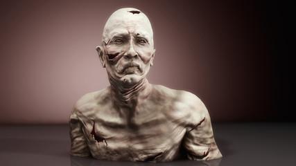 3d render monster zombie portrait