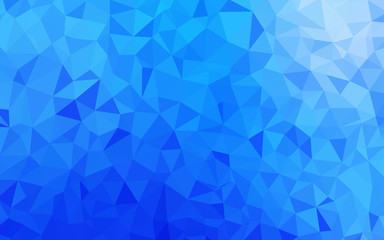 Light BLUE vector abstract mosaic pattern.