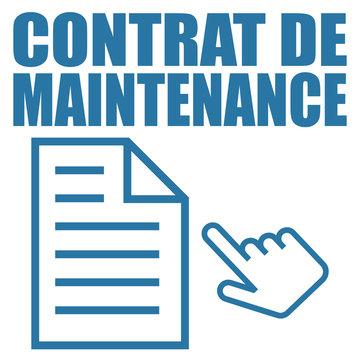 Logo contrat de maintenance.