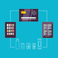 dispensers with credit card machine electronic