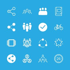 friendship icons set with teamwork, team and photo album vector set