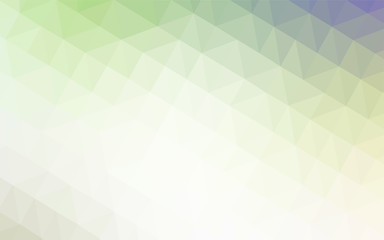 Light Green vector low poly layout.
