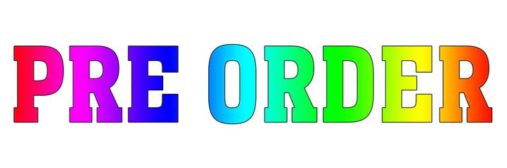 pre order Colorful Rainbow logo