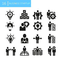 business startup concept icons