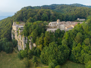 Aerial view of the Sanctuary of La Verna, Toscany, Italy.
