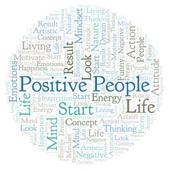 Positive People word cloud, made with text only.