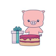cute piggy animal baby