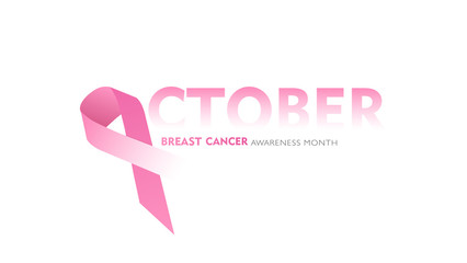 Breast Cancer october Awareness Ribbon Background