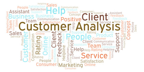 Customer Analysis word cloud.