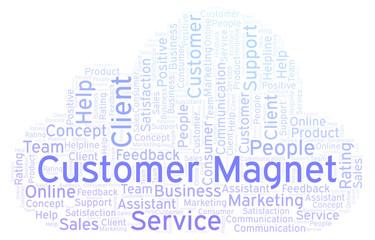 Customer Magnet word cloud.