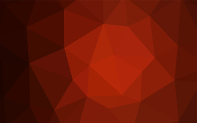 Dark Red vector abstract polygonal template.