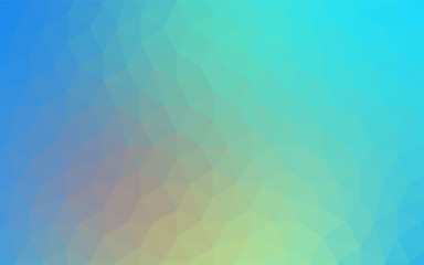 Light Blue, Yellow vector polygon abstract layout.
