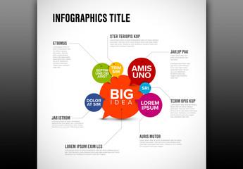 Speech Bubbles Infographic Layout
